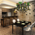 Neue Chinesische pflanzen Pendelleuchten kreative Chinesischen Vintage restaurant licht garten glas kleidung kaffee bar schreibtischlampe LU807108-in Pendelleuchten aus Licht & Beleuchtung bei