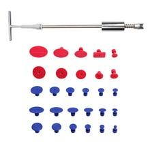 Автомобильный набор инструментов для ремонта вмятин, автомобильный Т-образный съемник, присоска для удаления вмятин, без краски, ремонт вмятин, 29 шт.
