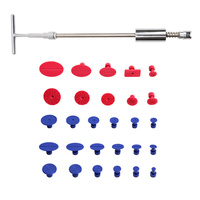 Car Paint Dent Repair Tool Set Automobiles T Type Puller Body Suction Cup for Dent Removal Paintless Dent Repair 29pcs