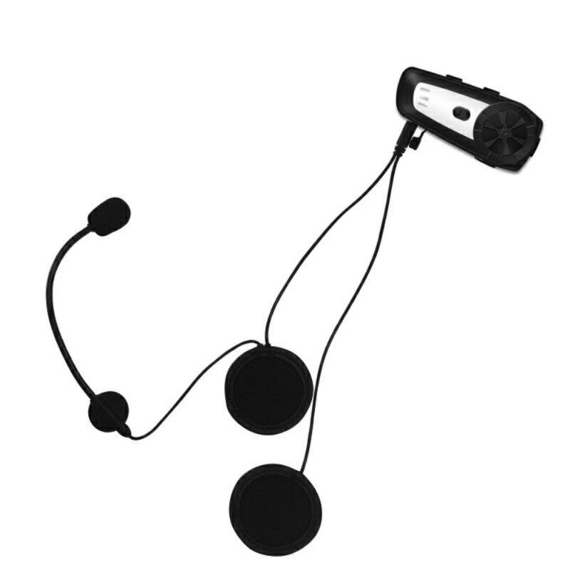 Waterproof M6 Bluetooth Headset Motorcycle Helmet Intercom Interphone Headset Walkie Talkie