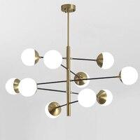 Современный кухонный светильник светодиодный подвесной светильник матовый стеклянный шар золотой подвесной светильник дизайн лампы в ска