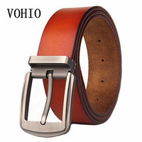 VOHIO 2018 leather belt corset big size extension plus wide belt 130 140cm men's leather belt buckles for men 47 56inch