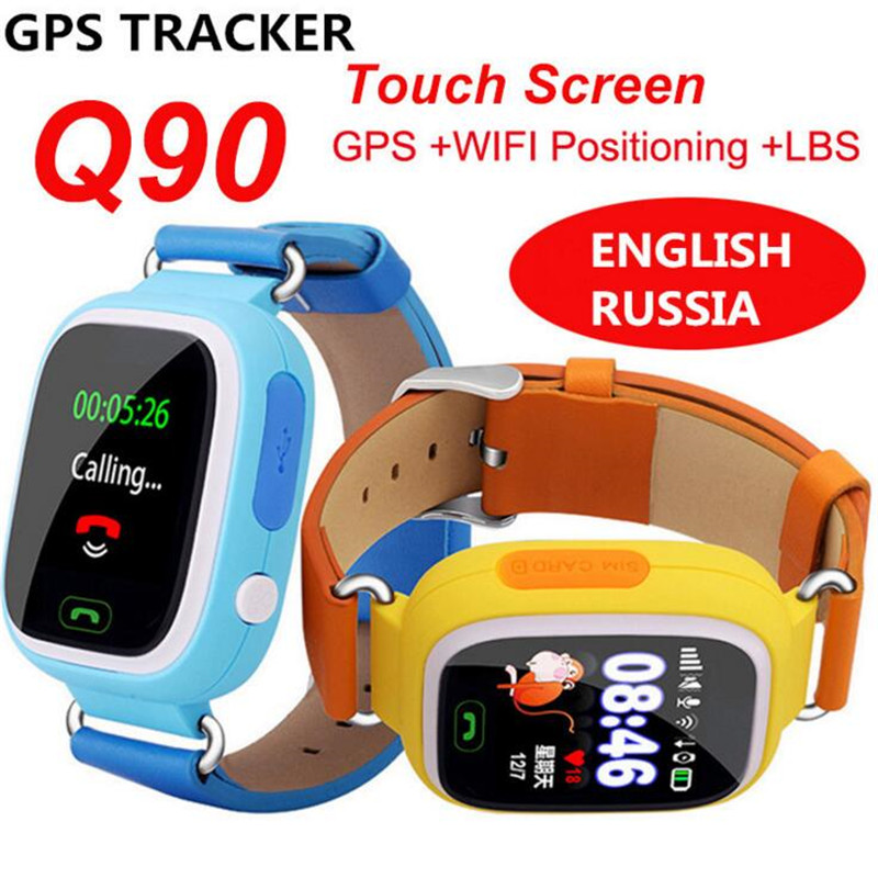 все цены на GPS WIFI Smart Watch Child Touch Screen SOS Location Finder Device Tracker Kid Safe Anti Lost Monitor Smartwatch Q90 Q50 F31 онлайн