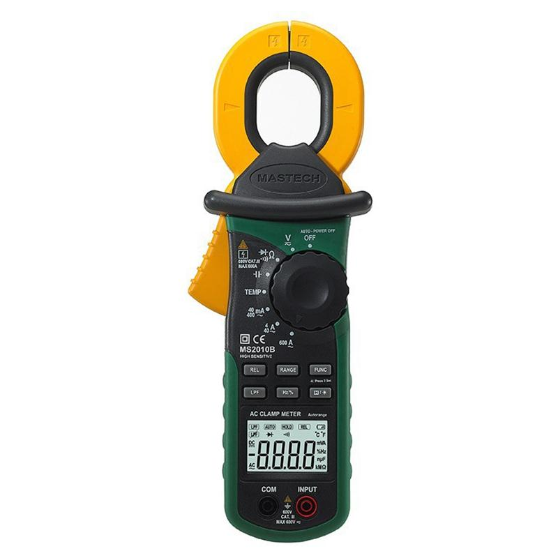 MASTECH MS2010B Digital Clamp Meter AC/DC Mini Handheld Voltage Current Resistance Tester Multimetro with Test Leads Multimeter