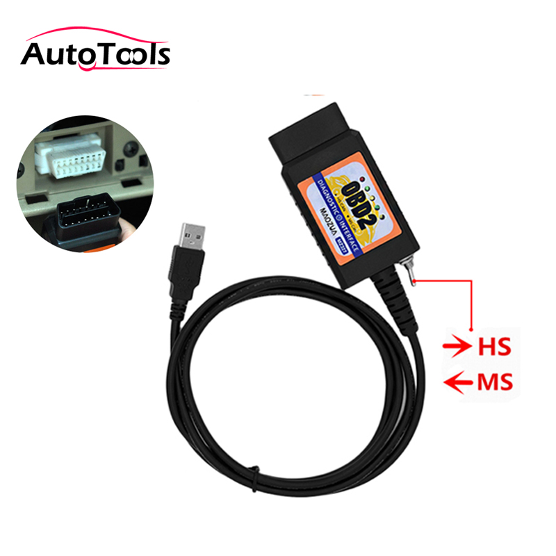 USB ELM327 For Ford MZ327 V1.5 Modified Switch ELMconfig CH340+PIC18F25K80 Chip HS-CAN / MS-CAN Open Hidden For Ford Scanner