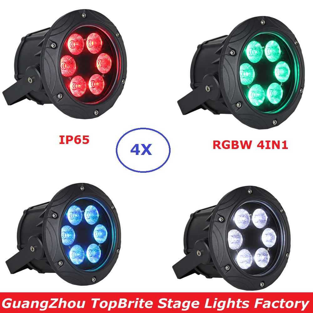 4Pcs/Lot Waterproof LED Par Lights 6X10W RGBW 4IN1 LED Stage Lights DMX Par Lights IP65 For Disco DJ Projector Free Shipping 2017 factory price 1pcs 60w bee eyes beam par light 6x10w rgbw 4in1 led par lights for stage dj disco professional party show
