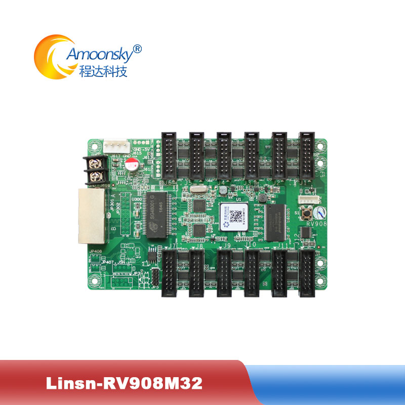 Linsn RV908 Receiver Card RV908M32 Replace Rv801 Full Color Controller 32 Scan Led Screen Display Receiving Card With Hub75 Port
