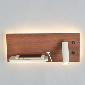 Image 2 - ZEROUNO Modern Hotel Wall Lamp Wall Lights Fixture Bed Room Headboard Reading Lamp night led Wireless USB Charger Backlit Lights