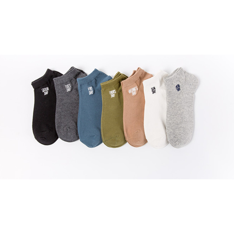 Mens ankle socks men cotton sock solid color boat socks spring and summer male casual short sock