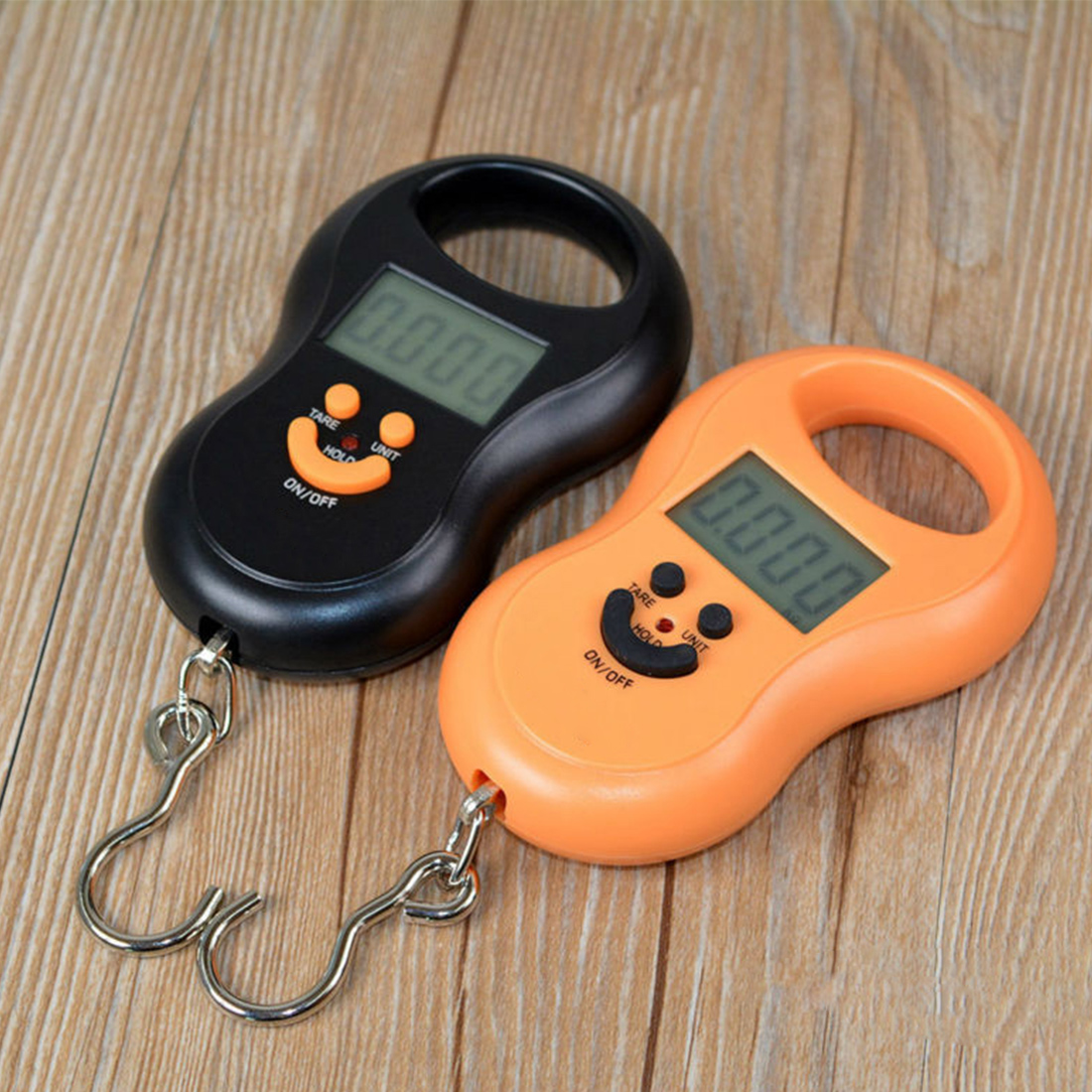 Portable Hanging Scale 50Kg /10g LCD Digital Blue Backlight Pocket Weight Luggage Scales Color Random