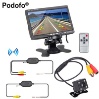Wireless Parking Assistance System 2 In 1 170 Degrees Mini Car Rear View Camera 7inch TFT