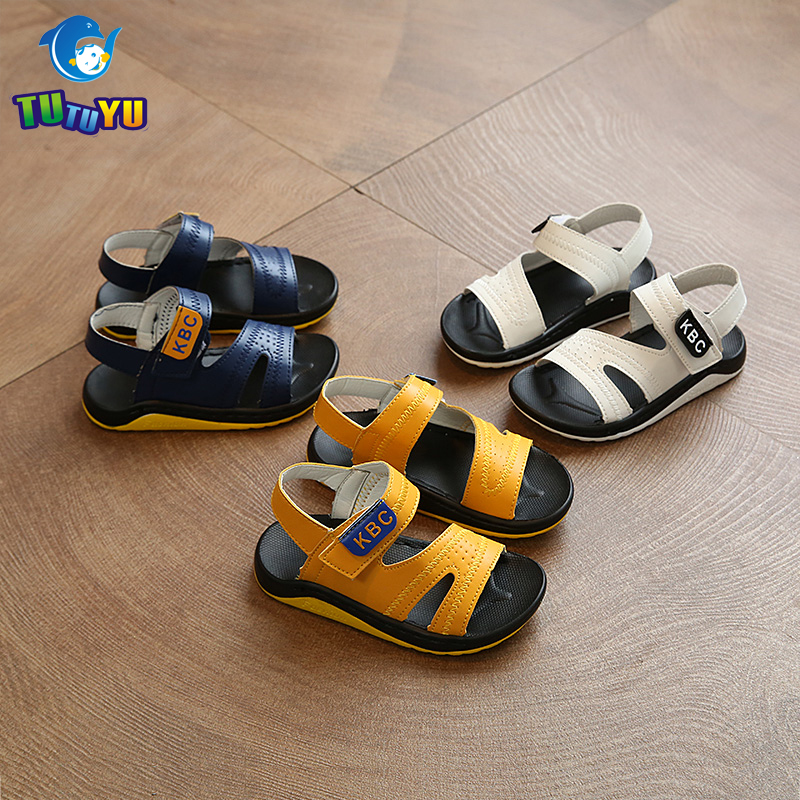 TUTUYU Boys Girls Sandals PU Causal Flats Children Mujer Sandals Kids Summer Girls Brand Shoes Elastic YY-522