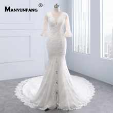 MANYUNFANG Mermaid Wedding Dresses Beach Wedding Dress