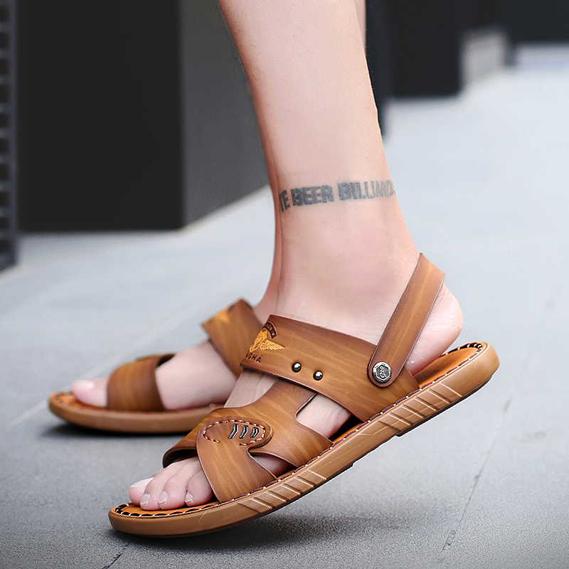 GroßZüGig Bomkinta Neueste Sommer Sandalen Männer Retro Männer Schuhe Khaki Mann Der Strand Sandalen Outdoor Hausschuhe Für Männlichen Alias Hombre
