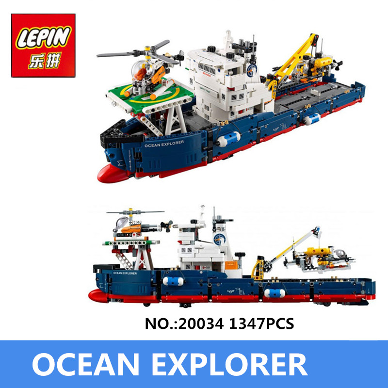 IN STOCK Lepin 20034 1347pcs Genuine New Technic Series The Searching Ship Set Educational Building Blocks Bricks Toys 42064 new lepin 16018 genuine the lord of rings series the ghost pirate ship set building block brick toys 79008 educational toy gift