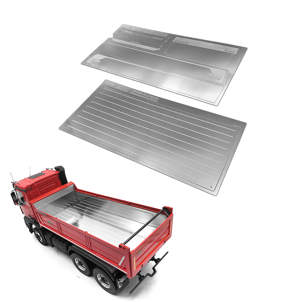 US $80 42 31% OFF|Scraper Anti Scraping Steel Plate For Tamiya 1/14 BENZ  AROCS TIPPER TRACTOR TRUCK RC Car Protection All Stainless Steel  Material-in