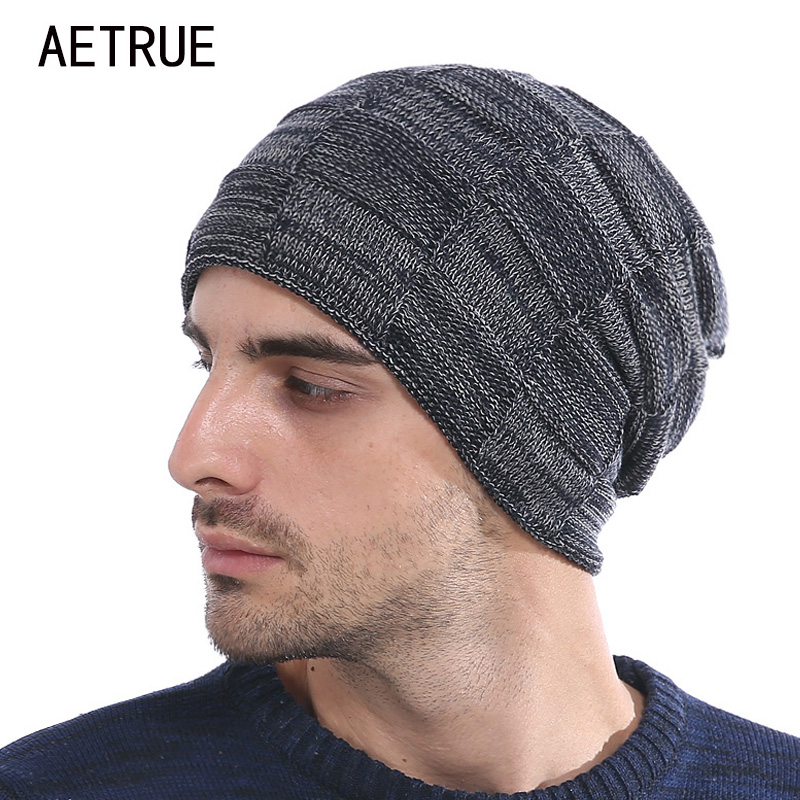 Skullies     Beanies   Men Winter Hats For Men Women Knitted Hat Bonnet Fashion Caps Warm Baggy Mask Brand Cap   Beanie   Men's Hat 2018
