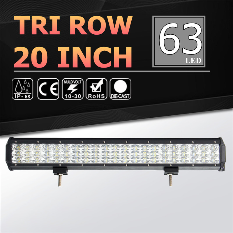 6000k Tri Row Work Light 20Inch 189W LED Work Light Bar Spot Flood Combo Waterproof IP68 For Offroad SUV ATV DC10-30V видеоигра бука saints row iv re elected
