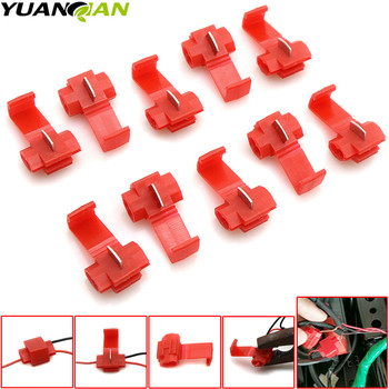 10pcs Wire terminals wiring connector cable clamp quick connection clip wire stripping free card buckle For Kawasaki Z1000 Z800 image