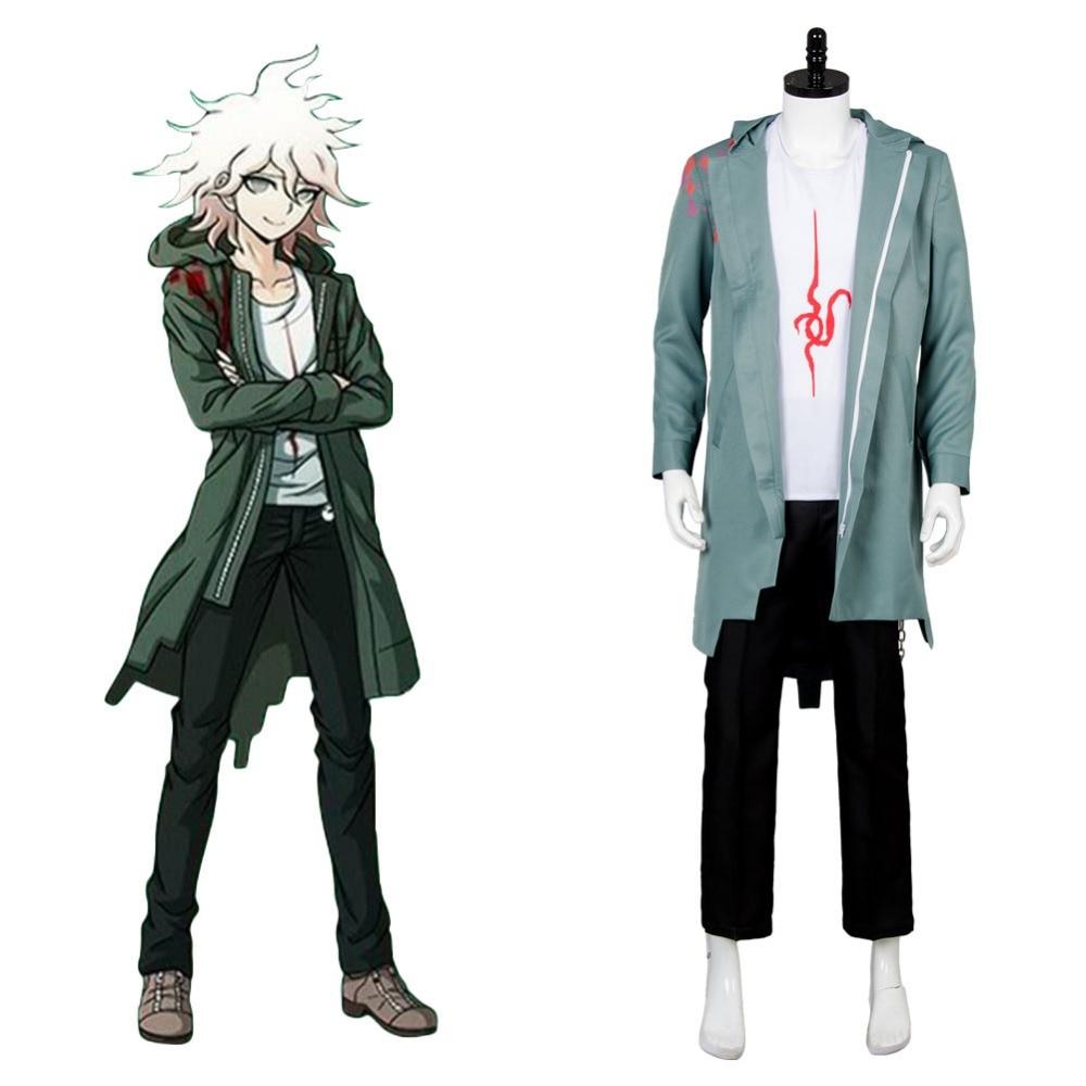 Danganronpa 2 Dangan-Ronpa Nagito Komaeda Coat Shirt Full Set Cosplay Costume