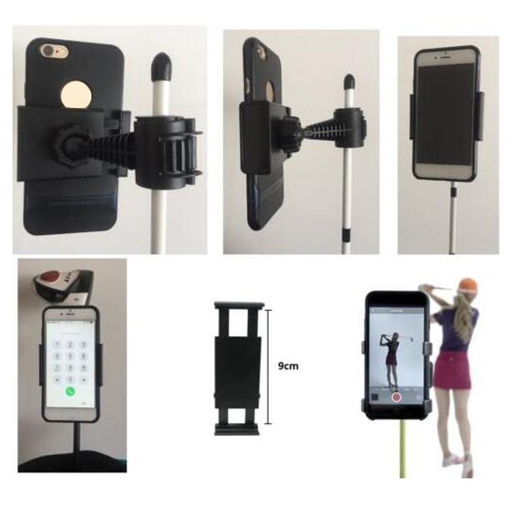 Golf Club Practice Records Accessories Phone Holder Golf Training Assistant Equipment Universal Selfie 2