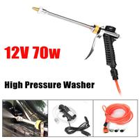 70W DC 12V Portable High Pressure Car Electric Washer Wash Water Pump Set Tools Kit