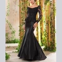 Elegant Long Sleeves V Neck Appliques Beading Sheath Sweep Train Women's Dresses mother of the bride dresses plus size