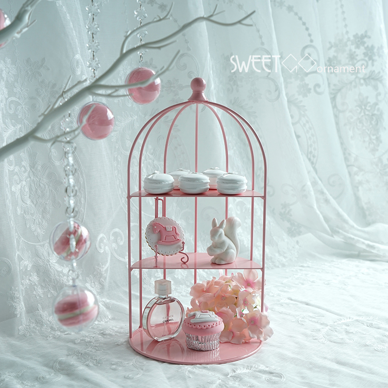 SWEETGO Birdcage for cupcake in pink decorating tools wedding sweet dessert table supplier baker showcase cake