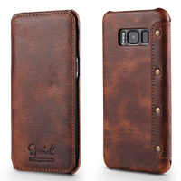 Real Leather for Samsung Galaxy S10 Plus Case S9Plus Note9 Coque Samsung S10Plus Case Flip Cover for Samsung S9 Case S10e Funda