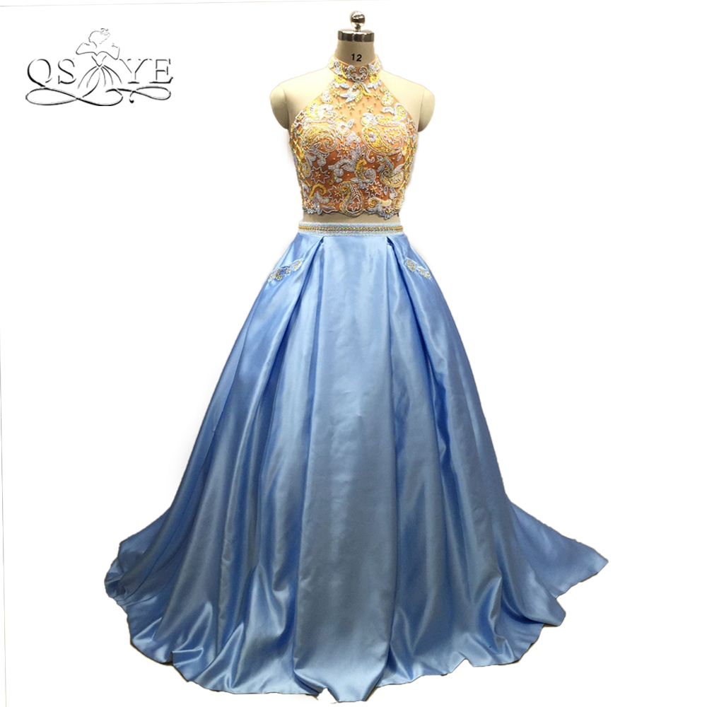 QSYYE 2018 Vintage Ball Gown Prom Dresses Luxury Beaded Top Open ...