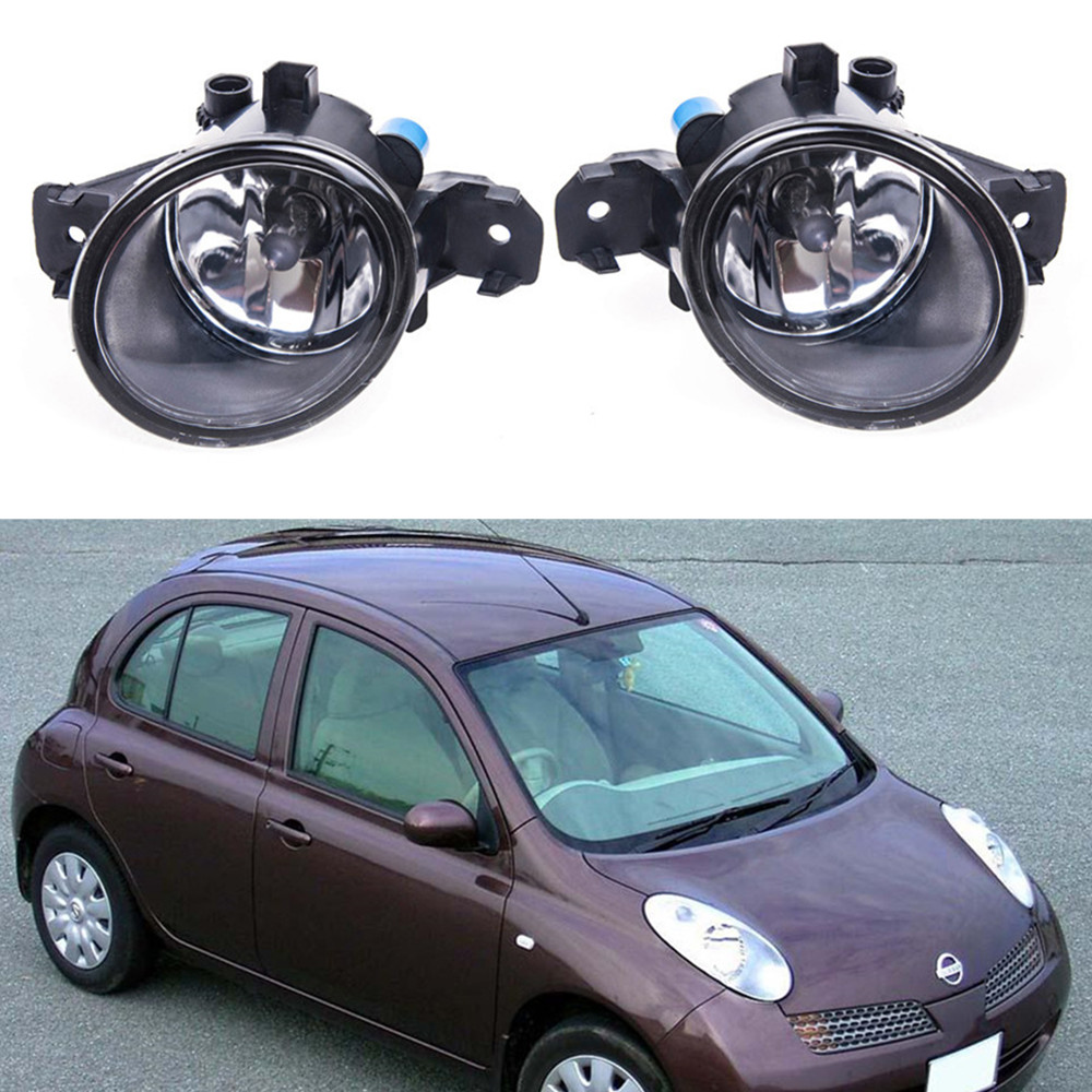For NISSAN MARCH 3  K12  2003-2010 Car styling Fog Lamps 55W halogen Lights 1SET молдинги 10 nissan march bc