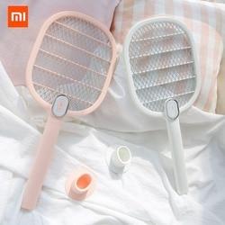 Xiaomi mijia eléctrico mosquitos recargable LED eléctrico insecto mosca Mosquito disipador asesino raqueta 3-de red de capa