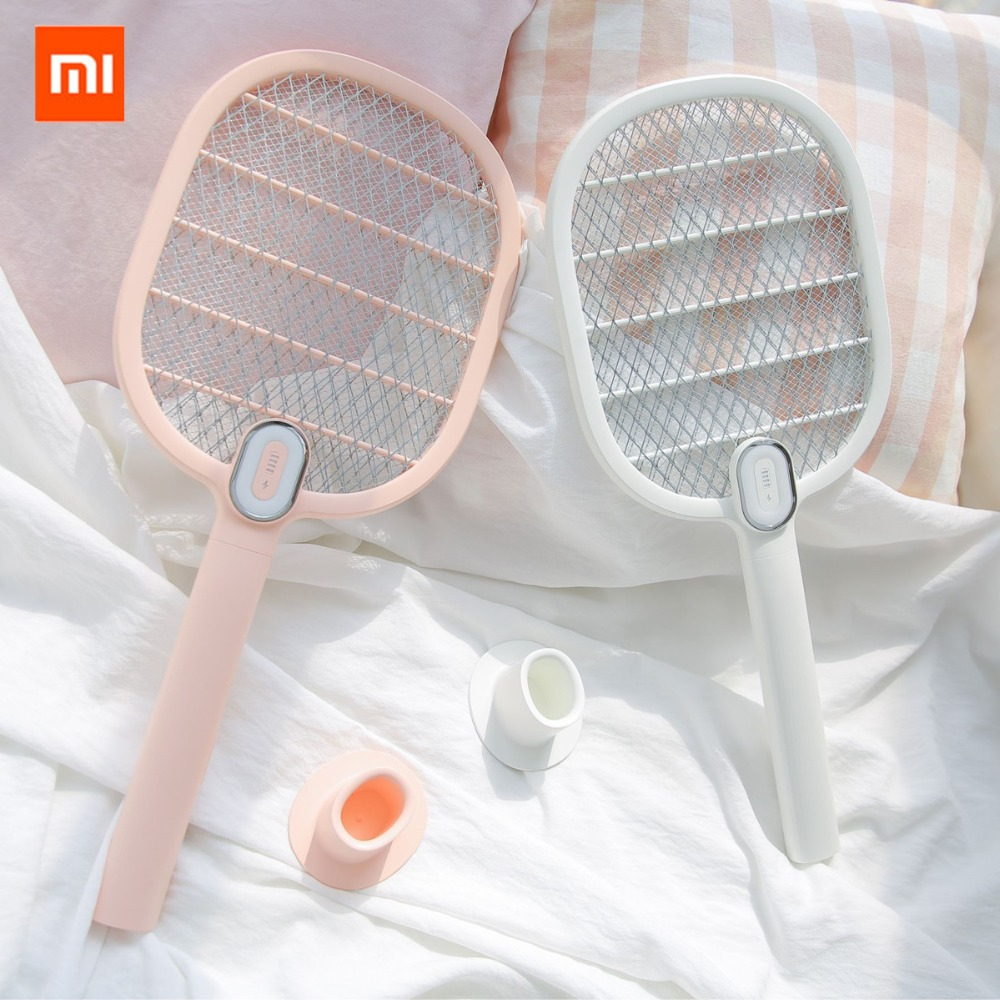 xiaomi mijia Electric Mosquito Swatter Rechargeable LED Electric Insect Bug Fly Mosquito Dispeller Killer Racket 3-Layer Netxiaomi mijia Electric Mosquito Swatter Rechargeable LED Electric Insect Bug Fly Mosquito Dispeller Killer Racket 3-Layer Net