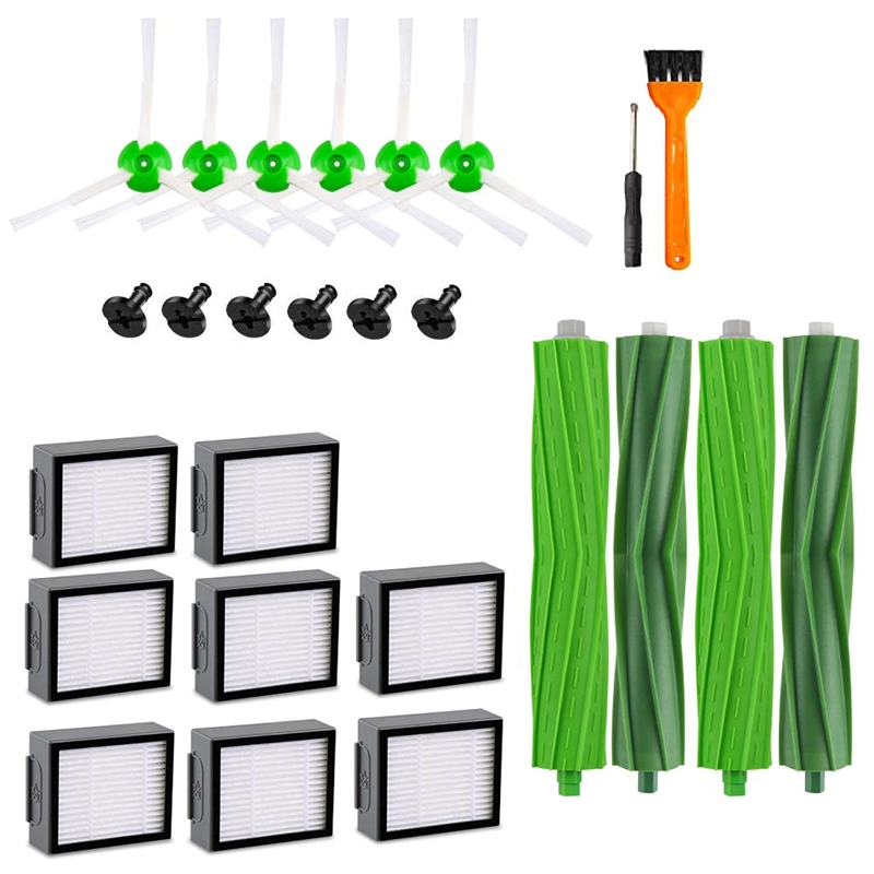 For I7 Replacement Part Filter,Compatible With Irobot Roomba I7 I7+/I7 Plus E5 E6 E7 Series Vacuum Cleaner,8Pcs Hepa Filter+6PFor I7 Replacement Part Filter,Compatible With Irobot Roomba I7 I7+/I7 Plus E5 E6 E7 Series Vacuum Cleaner,8Pcs Hepa Filter+6P