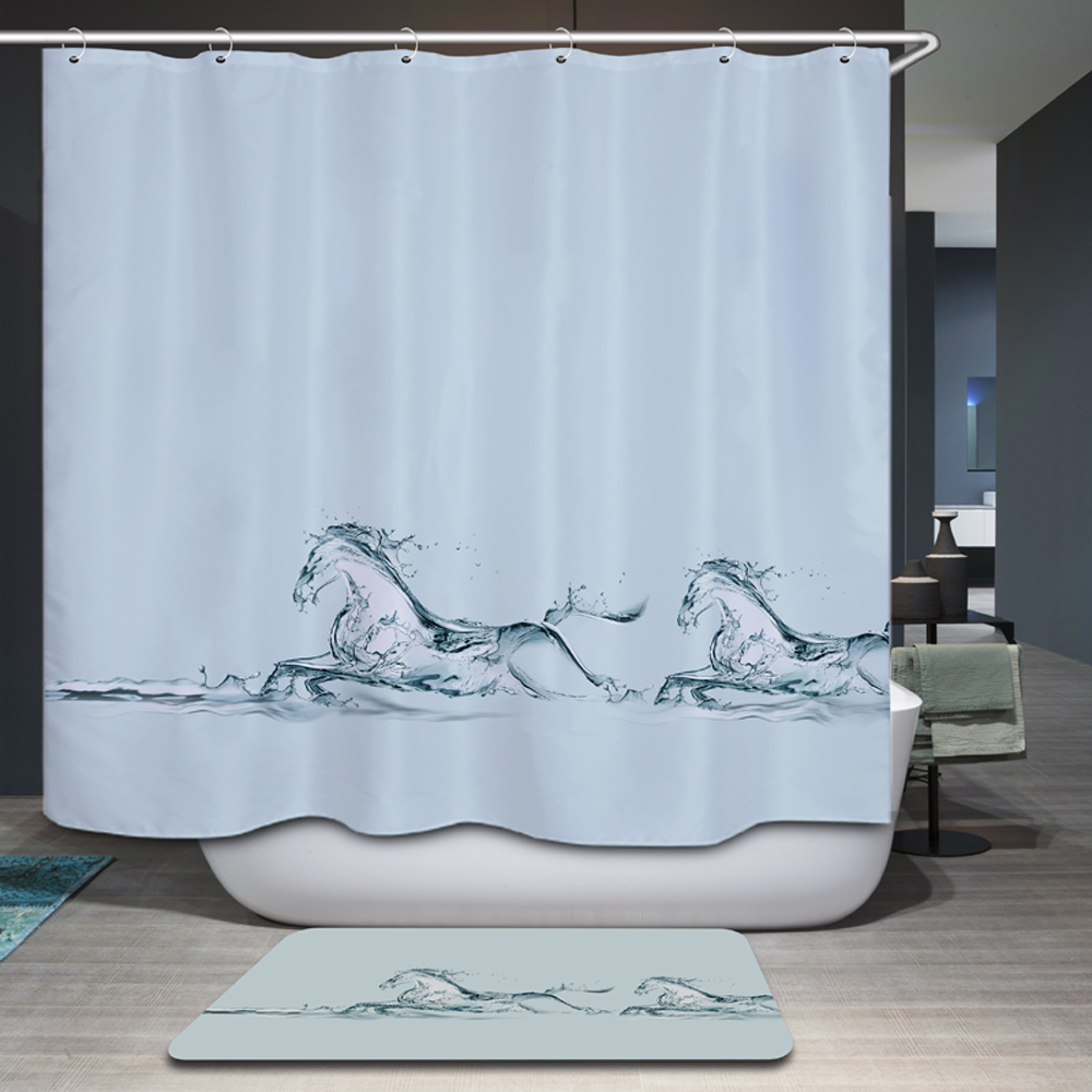 Smiry Modern Minimalism Animal Shower Curtain Polyester Waterproof Dog  Horse Nature View House Bathroom Curtain Gordijnen  In Shower Curtains From  Home ...
