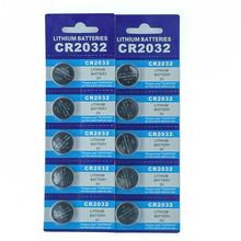 OOLAPR 10PCS original brand new battery for cr2032 3v button cell coin batteries for watch computer cr 2032 Free Shipping