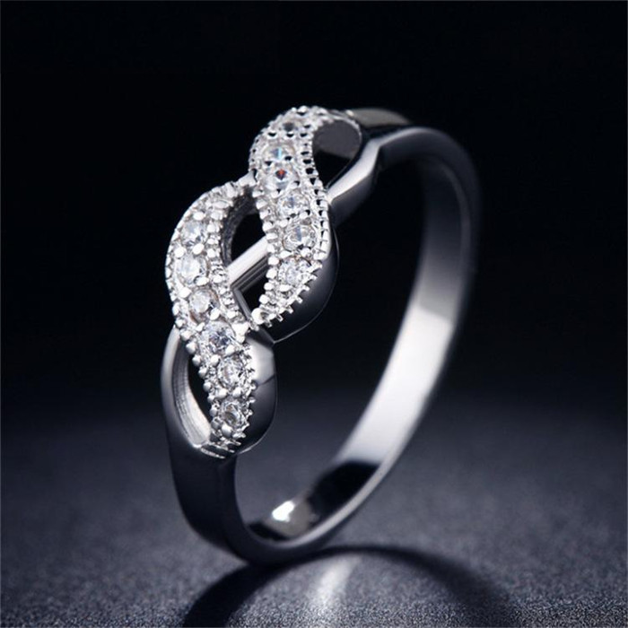 H:HYDE High Quality Size 7-9 White gold Color Ring Fashion Jewelry Party retro Rings Geometric Engagement ring bague