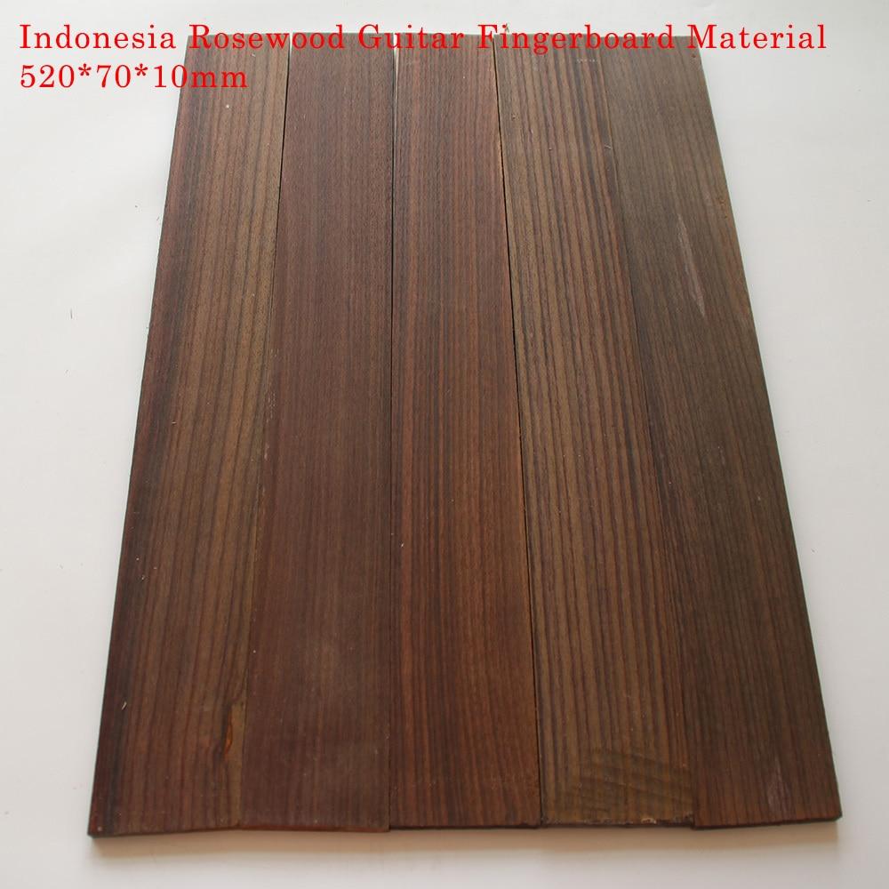 Handmade A Grade Indonesia SONOKELING WOOD Guitar Fingerboard Material Handmade Fingerboard Accessories 520*70*10mm