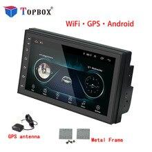 """Bauletto Android GPS Per Auto Lettore Multimediale Bluetooth WIFI Autoradio 2 Din 7 """"Auto Audio Universale Dell'automobile dello schermo di Tocco audio Stereo"""