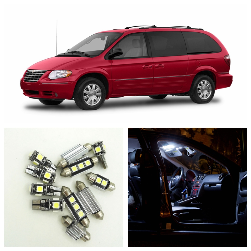 15pcs canbus white led lights bulbs interior package kit - 2001 chrysler town and country interior ...