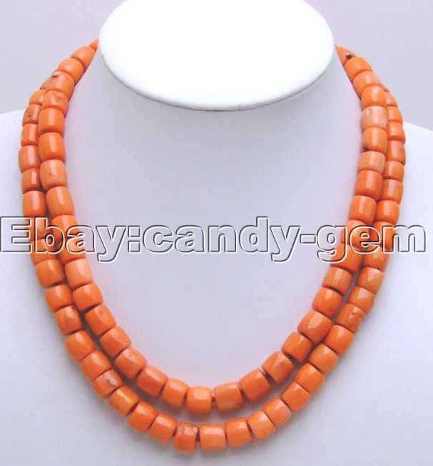 SALE GENUINE Big 11-12MM Thick Slice Pink natural Coral 2 Strands 19-21 Necklace-nec5207 wholesale/retail