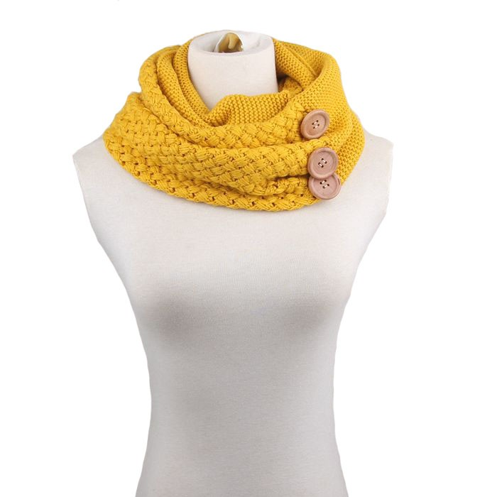 Feitong moda invierno mantener caliente bufanda de dos círculo 3 ...