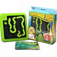 Anaconda Piece Riddles Classic Shape-matching Puzzle Smart IQ Puzzle Games Toys For Children Learning Educational Montessori 42