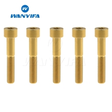 Wanyifa 5Pcs M8x45 50 60 70mm Stigma Titanium Bolt Screw for Bicycle Brake Bike Fastener