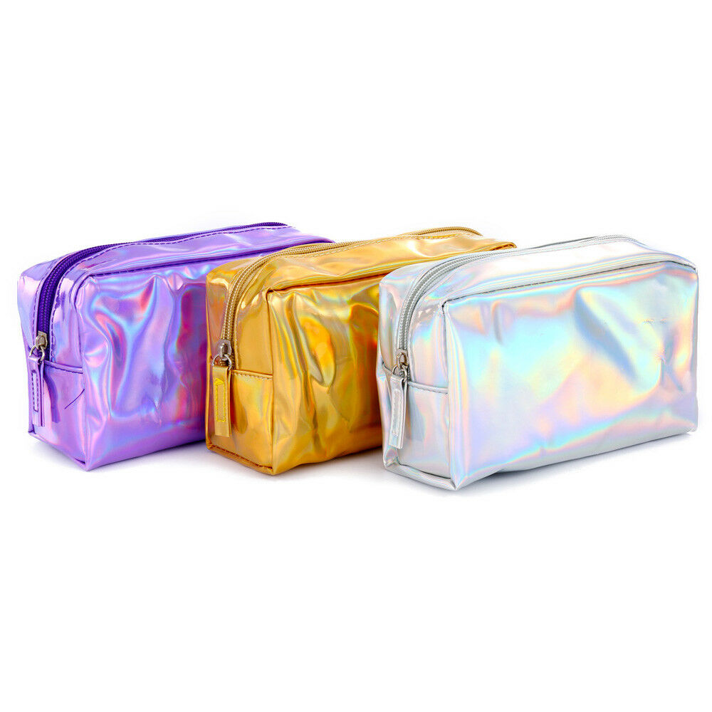 New Holographic Flash Candy Cosmetic Bag Fashion Clutch Bag Portable Travel Casual Women's Make Up Bag