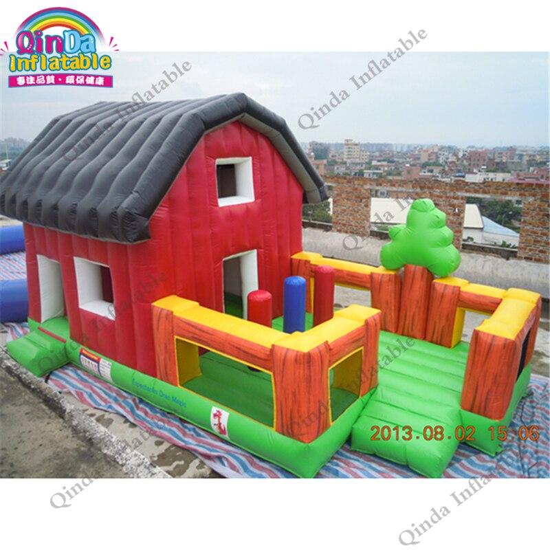 Guangzhou grossiste Puzzle châteaux pleins d'entrain sautant des jouets de château pour des enfants, Combo de maison de rebond avec le ventilateur libre