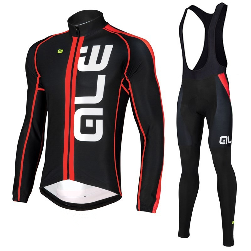 ALE Men Cycling Jersey <font><b>Set</b></font> Bike Bicycle Long Sleeves Mountain MTB Clothing Shirts Breathable Cycling Jersey <font><b>Set</b></font> Ropa Ciclismo