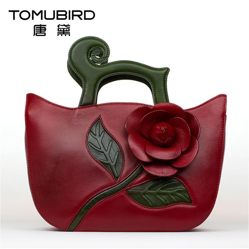 Famous brand top quality Genuine leather women bag Fashion flowers Messenger bag Chinese wind hand bag Retro handbag все цены