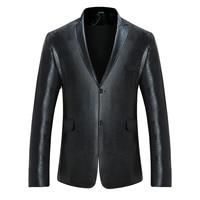 2017 Men S Paisley Pattern Sequin Suit Jacket Slim Fit Black Blazer Fashion Stage Wear For