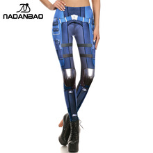 NADANBAO Brand New BARBARIAN Skull Women Leggings Printed Leggins  Woman Pants